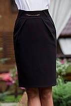 Женская черная юбка-карандаш с карманами (1836 svt), фото 2