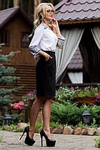 Женская черная юбка-карандаш с карманами (1836 svt), фото 3