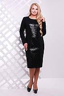 Donna-M Платье с  пайетками ASTI черное , фото 1