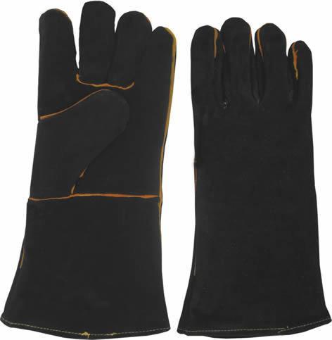Перчатки спилковые для сварщика черные