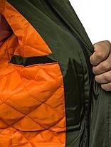 Мужская зимняя куртка J.Style оливкового цвета, фото 3