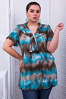 Donna-M Туника с коротким рукавом ЛЕЙЛА голубая , фото 1