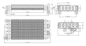 616170 Теплообменник для котлов BAXI MAIN, MAINFOUR, MAIN DIGIT, WESTEN QUASAR, QUASAR PLUS., фото 2