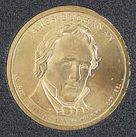 Монета США 1 доллар 2010 г. 15-й президент Джеймс Бьюкенен