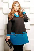 Donna-M Туника с V-образным вырезом ЛАЙЗА голубая , фото 1