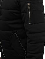 Мужская зимняя куртка NATURE черного цвета топ реплика, фото 2