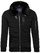 Мужская зимняя куртка NATURE черного цвета топ реплика, фото 3