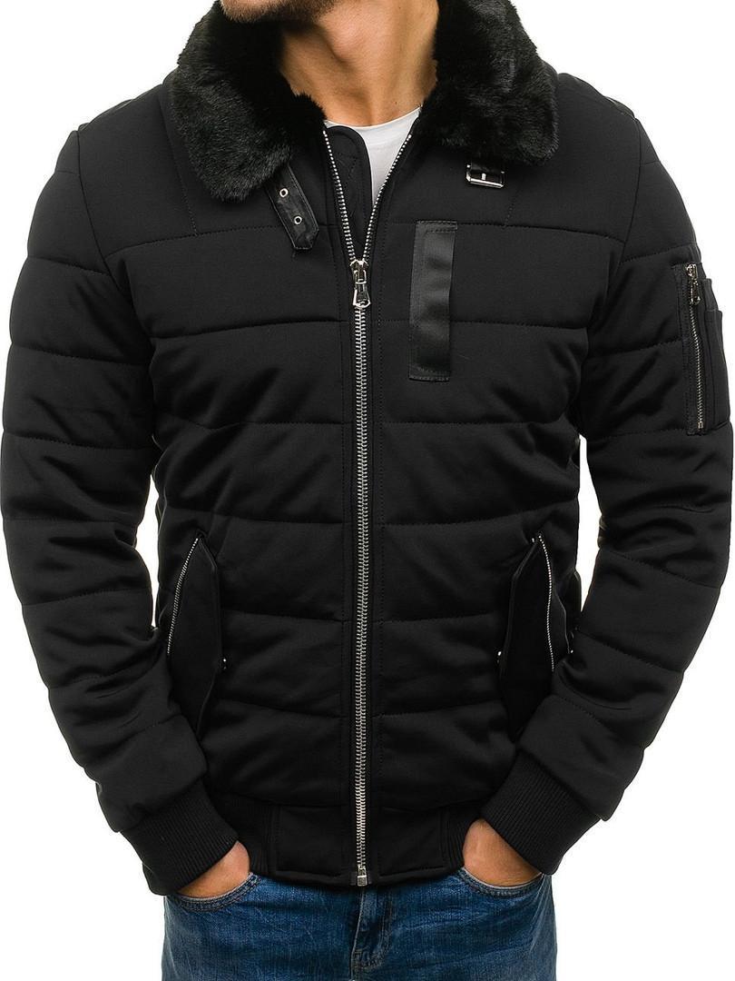 Мужская зимняя куртка NATURE черного цвета топ реплика