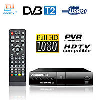 Тюнер Т2 приставка ТВ HDOpenBox Пульт WiFi YouTube FullHD 32 канала IPTV простая настройка, фото 1