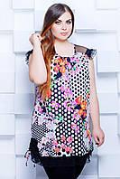 Donna-M Туника с сеткой цвет черный/розовый КИРА , фото 1
