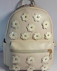 Рюкзак для дівчинки підлітка колір бежевий