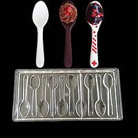 Поликарбонатная форма для шоколада Ложка 270*133*25 мм