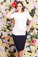 Donna-M Платье жаккардовое КАМИЛЛА белое , фото 1