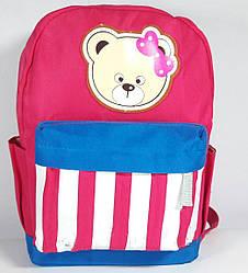 Рюкзак для дівчинки Ведмедик малиновий