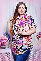 Donna-M Рубашка с кулисками ВЕРЕВКА розовая , фото 1