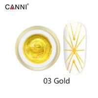 Гель-паутинка CANNI 03 (золото), 5 мл