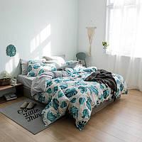 Комплект постельного белья Монстера (двуспальный-евро)