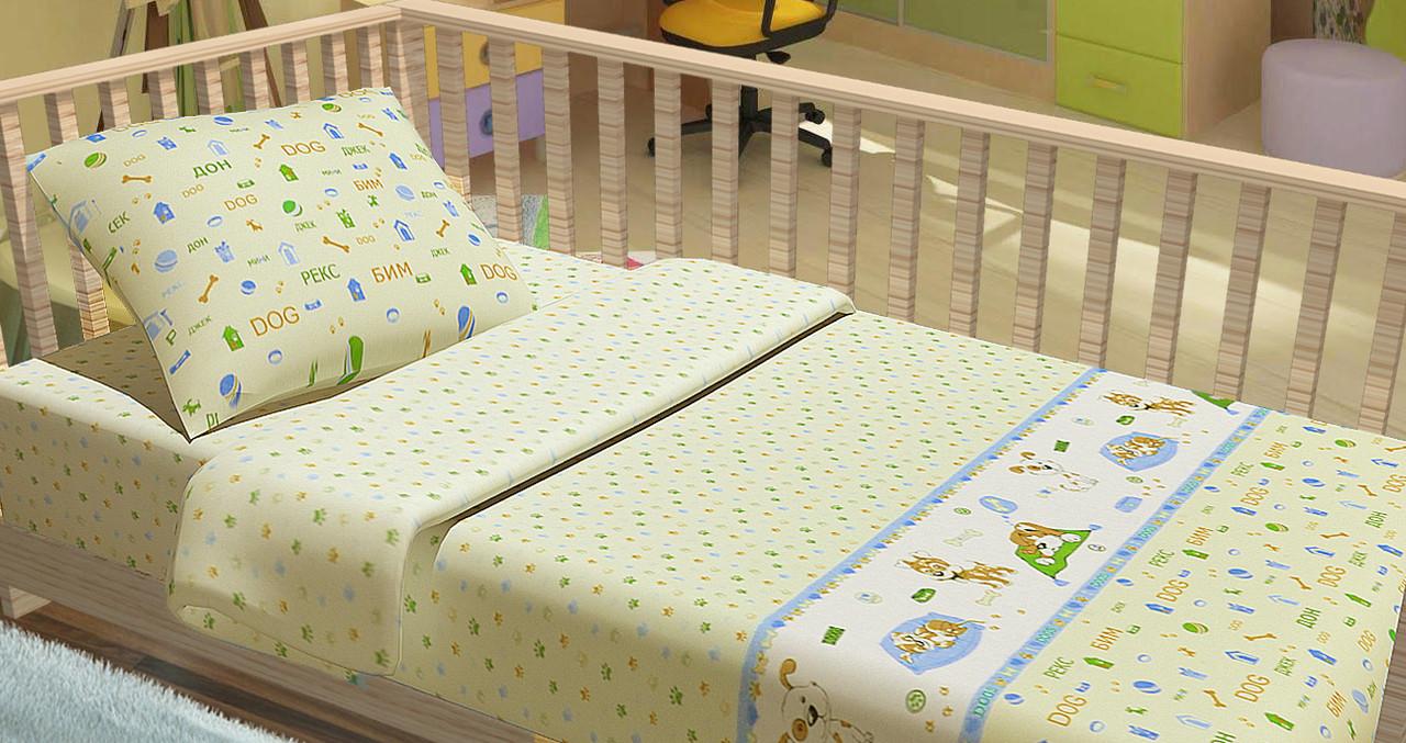 Постельное белье для новорожденный Kidsdream Щенки.