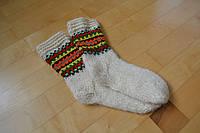 Шерстяные вязаные носки ручной роботы