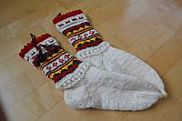 Шерстяные вязаные носки с кутасиками ручной роботы