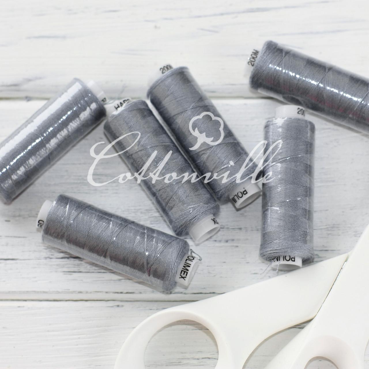 Нитки швейные 40s/2 (200 м) цвет темно-серый