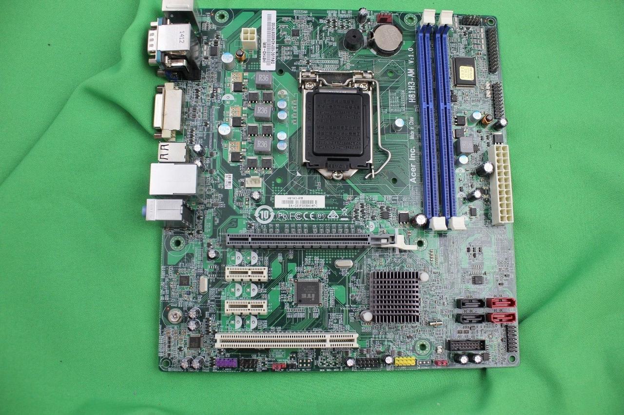 Материнская плата Acer H81H3-AM+  кулер +задняя планка сокет 1150