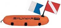 Буй для подводной охоты Salvimar Torpedo; с двумя флагами