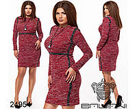 Буклированное облегающее женское платье с 50 по 56 размер, фото 1