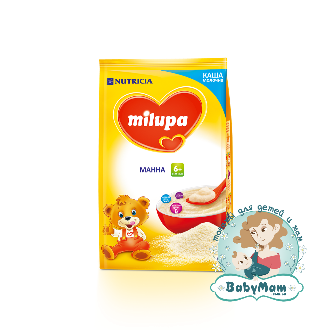Каша молочная Milupa манная, 6+, 210гр
