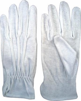 Перчатки трикотажные с ПВХ точкой, перчатки официанта