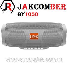 Портативная Блютуз Колонка JAKCOMBER BY-1050 Серый FM Повер Банк micro USB SD AUХ Bluetooth