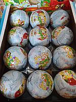 Santa chocolate suprise toys шоколадный мяч Санта Клаус с сюрпризом 24шт 85 гр ANL Gida Турция, фото 1
