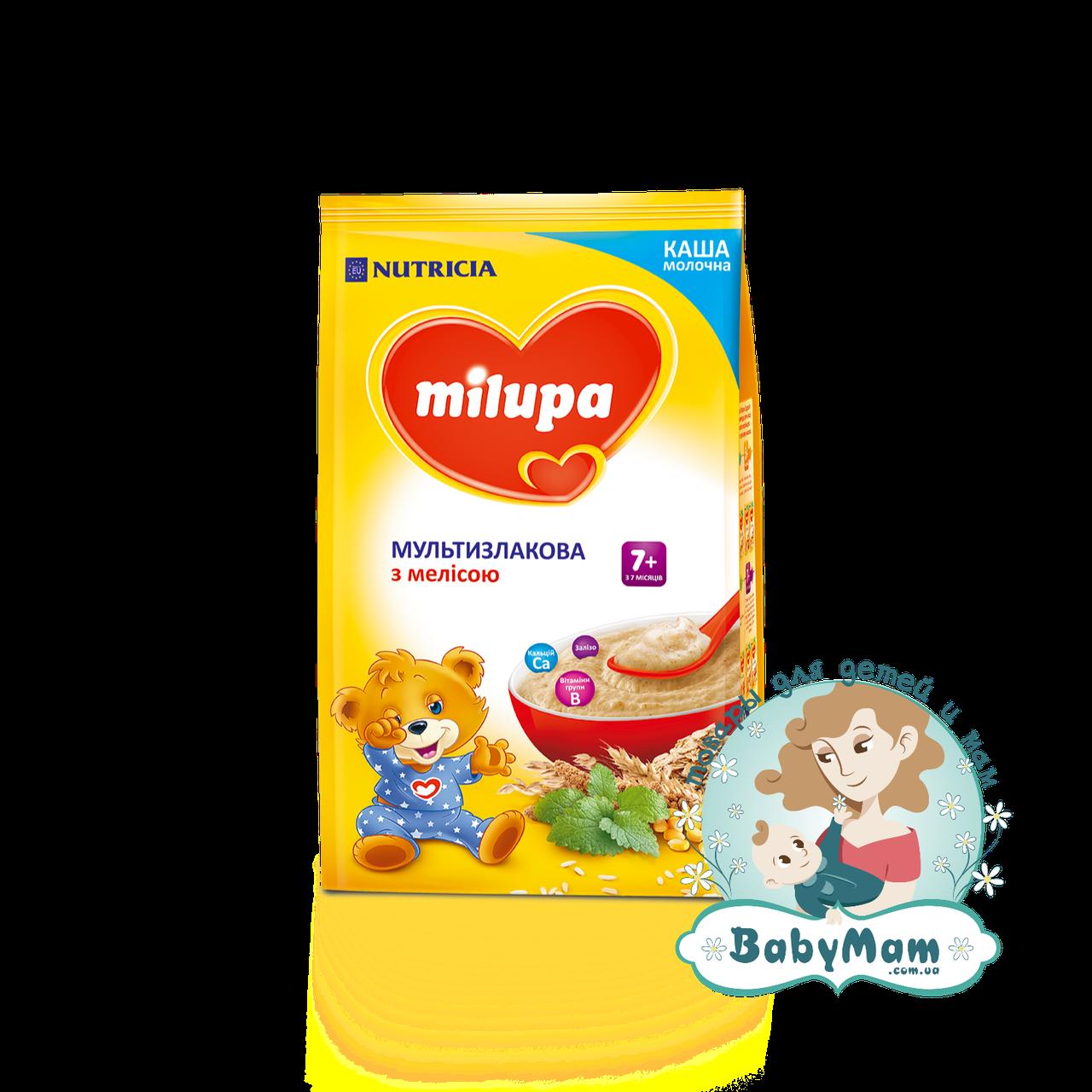 Каша молочная Milupa мультизлаковая с мелисой, 7+, 210гр
