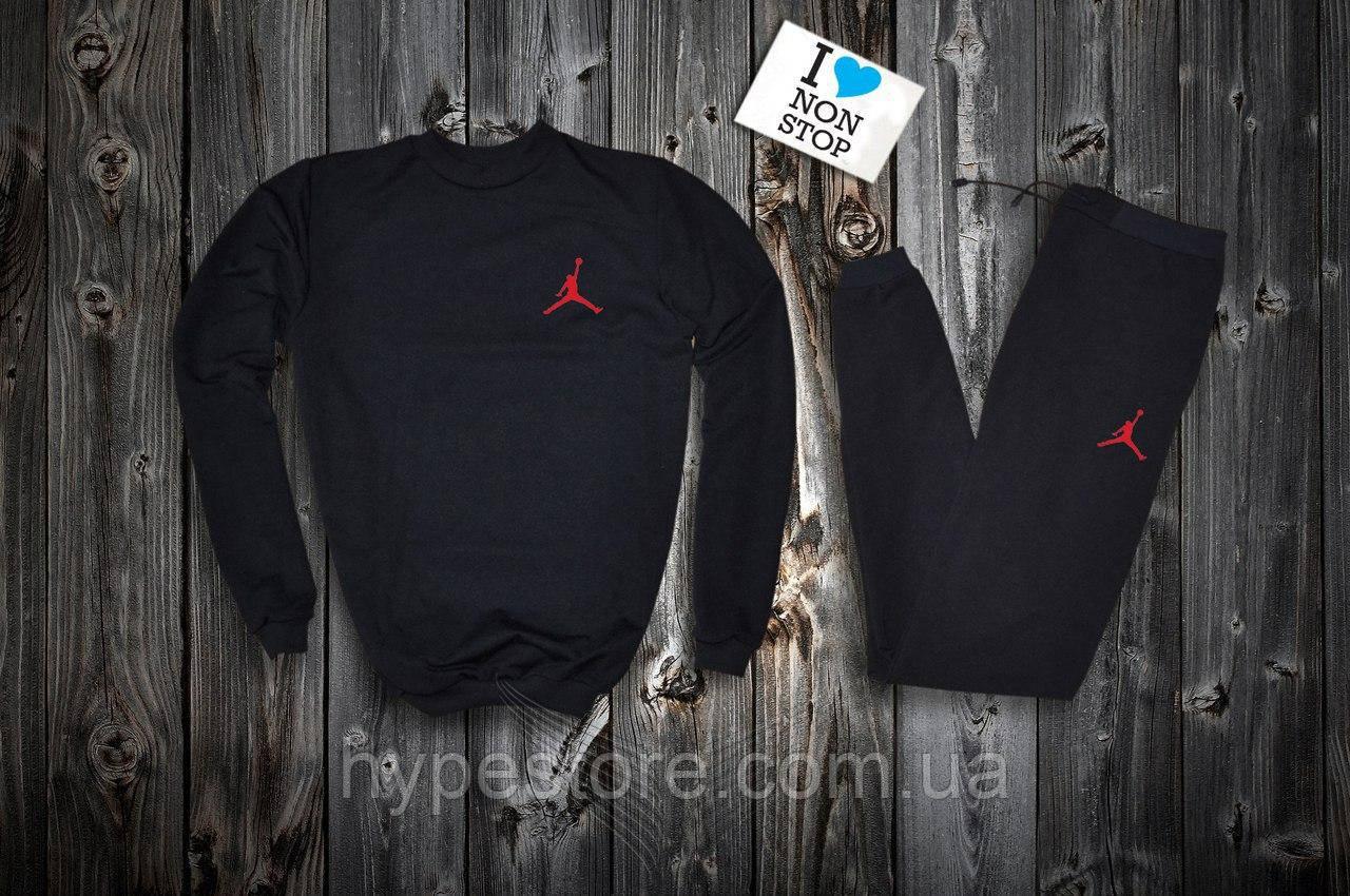 Мужской спортивный костюм на флисе Jordan, красный лого, Реплика -  Интернет-магазин обуви 29427022824