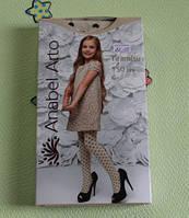 Нарядные колготки с рисунком для девочки хлопок 150 DEN