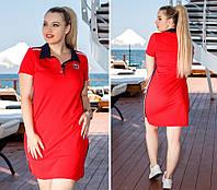 """Трикотажное мини-платье в спортивном стиле """"AJIOTAGE"""" с карманами (большие размеры)"""