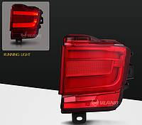 Диодные задние противотуманные Led птф фонари Toyota Land Cruiser LC 200 (15+) красные