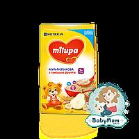 Каша молочная Milupa мультизлаковая со смесью фруктов, 7+, 210гр