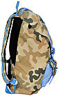 "Рюкзак для ноутбука 15,6"" Paso CM-192B камуфляж/блакитний 25 л, фото 3"