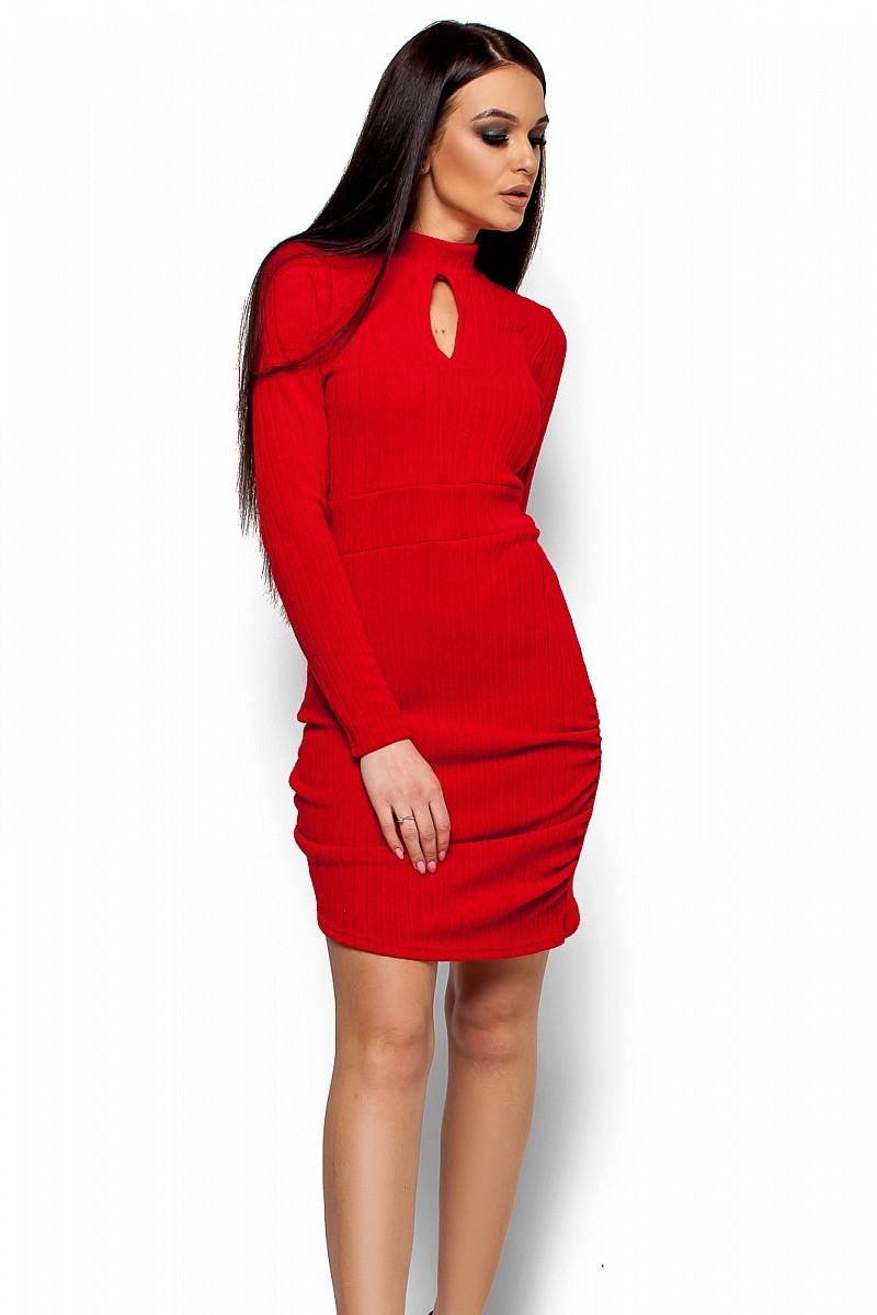 a1692360013ecb (S, M) Коротке червоне вечірнє плаття Laretty -