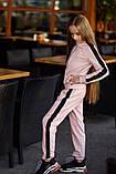 Спортивный костюм детский штаны+кофта сбоку лампасы итальянский трикотаж рост:134,14,146,152 см, фото 3