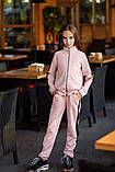Спортивный костюм детский штаны+кофта сбоку лампасы итальянский трикотаж рост:134,14,146,152 см, фото 6