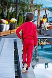 Спортивный костюм детский штаны+кофта сбоку лампасы итальянский трикотаж рост:134,14,146,152 см, фото 5