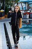 Спортивный костюм детский штаны+кофта сбоку лампасы итальянский трикотаж рост:134,14,146,152 см, фото 4