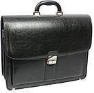 Портфель з еко шкіри Jurom Польща 0-41-111 чорний, фото 2