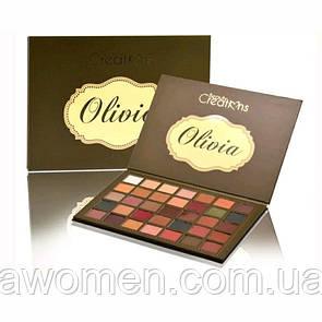 Тіні для очей Beauty Creations OLIVIA 35 кольорів