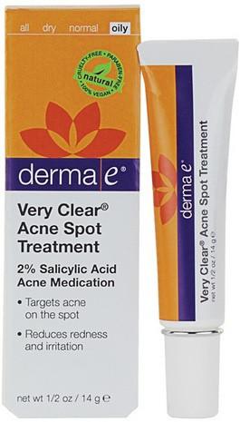 Средство от угрей точечного нанесения Very Clear® *Derma E (США)*