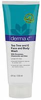 Средство для умывания лица и мытья тела с маслом чайного дерева и витамином Е *Derma E (США)*