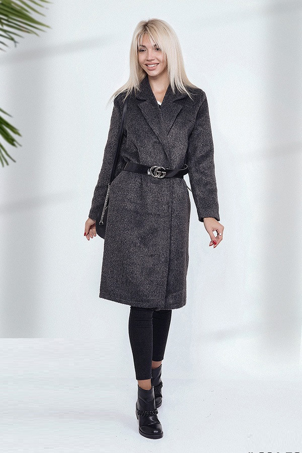 Женское пальто Лама Миди 3873