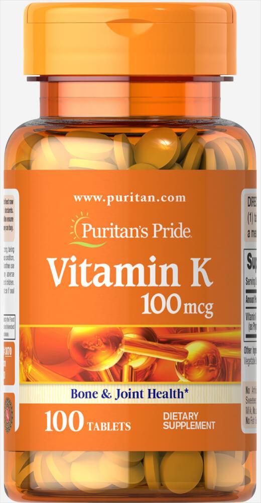 Puritan's Pride Vitamin K 100 mcg 100 tabs